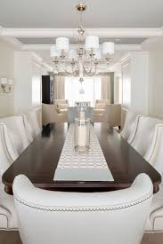 a transitional style dining room by