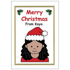 personalized christmas cards personalized christmas cards for kids girl mandys moon