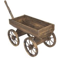 amazon com vintage garden wood wagon flower planter pot stand