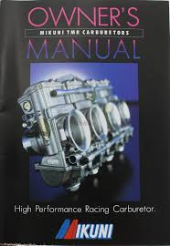 mikuni tmr carburetor owners manual 775 000 1000