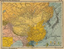 Turkestan Map Map China History Ching Dynasty Chinese Empire In 1910 Ad