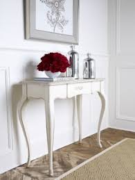 queen anne entry table this vintage queen anne hall table with bow front has been painted