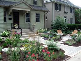 Front Yard Landscaping Without Grass - no grass front yard landscape traditional with white flowers