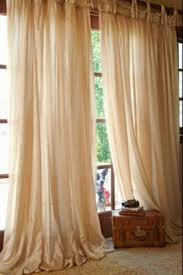 Smocked Burlap Curtains Inspirations French Country Cottage