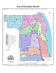 Chicago Area Zip Code Map by Maps City Of Evanston