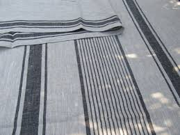 natural linen l shade huckaback natural linen fabric striped gray with black stripes