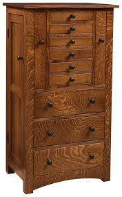 Armoire Solid Wood Deluxe Flush Mission Jewelry Armoire Solid Wood