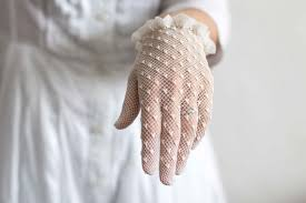 communion gloves transparent white crochet lace gloves for by theapronsociety