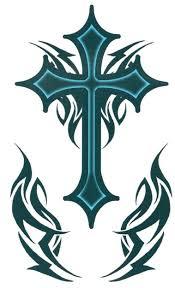 tribal cross religious designs