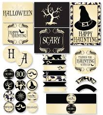 spooky vintage halloween printable party instant download by