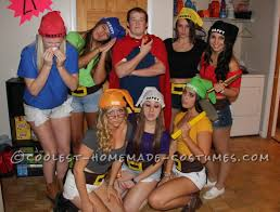 creative snow white and his 7 dwarfs group costume halloween