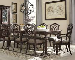 Extended Dining Table Sets Leahlyn Reddish Brown 9 Piece Rectangular Extendable Dining Table Set