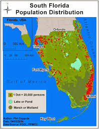 Map Of South Florida by Phil U0027s Gis Blog Module 11 Dot Mapping