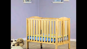 Folding Mini Crib by Details Dream On Me Portable Folding Stationary Side Crib Youtube