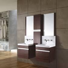 Bathroom Vanity Makeup Sink Bathroom Vanity With Makeup Table Classic Satin Nickel