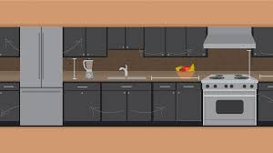 clearance between kitchen island and cabinets decoration