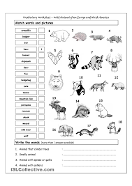 Esl Vocabulary Worksheets Vocabulary Worksheet Animals English Language Esl Efl Learn