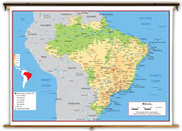 physical map of argentina brazil physcial educational wall map from academia maps