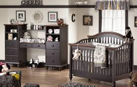 nursery room with dark furniture affordable ambience decor