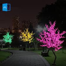 Led Landscape Tree Lights New Luz De Led Cherry Blossom Tree Light Luminaria 1 5m 1 8m Led