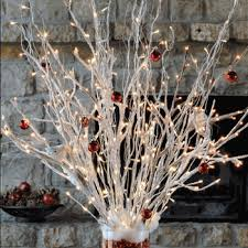 Lighted Branch Tree Christmas Decoration Ideas Using Lighted Branches And Florals