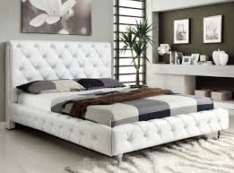 White Bedroom Designs 2013 Maria Bedroom At Home Usa Tufted White Leatherette