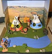 california desert indians shoebox diorama materials watercolor and