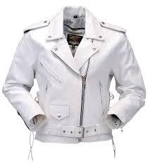 leather motorcycle clothing jamin u0027 leather white leather motorcycle jacket w side lace