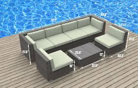 Patio Furniture Sectionals - patio cheap wicker furniture images about sectional oahu 7pc ultra