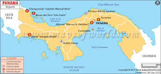map of panama city airports in panama panama airports map