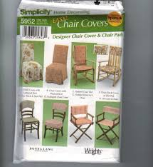 home decor sewing pattern simplicity 5952 chair pads and covers