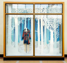 anthropologie snow forest window display 2012 best