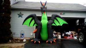 gemmy inflatable 13ft fire and ice dragon youtube