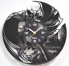batman vinyl clock batman wall art marvel wall decor batman