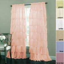 Ruffled Pink Curtains Ruffle Curtain Panels Foter