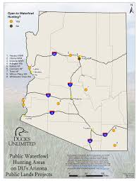 Lake Havasu Map Public Waterfowl Hunting Areas On Du Public Lands Projects