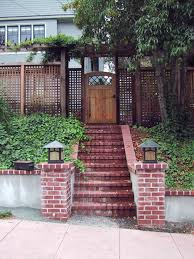 Brick Stairs Design Photos Hgtv Home Entryway With Brick Stairs And Lattice Fence