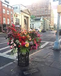 flowers nyc lewis miller design creates trash can flowers with flower flashes