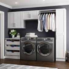 white wall cabinets for laundry room laundry room cabinets storage the home depot stylish white regarding