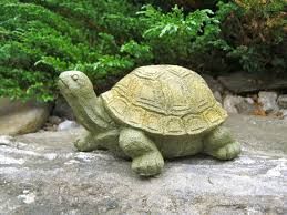 tortoise garden statue concrete animal by westwindhomegarden