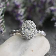 vintage inspired engagement rings vintage inspired floral moissanite engagement ring in 14k white