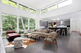 clerestory windows for a beach style family room with a beach room