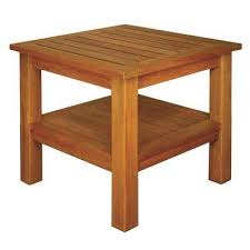 Square Patio Table Square Wood Patio Tables Patio Furniture The Home Depot