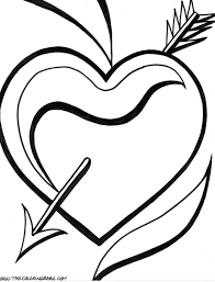 coloring pictures of hearts and roses coloring home