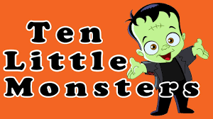 10 little monsters halloween songs for children kids