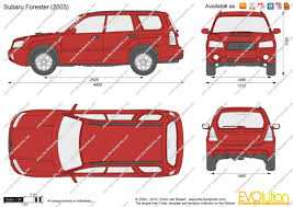 forester subaru 2003 the blueprints com vector drawing subaru forester