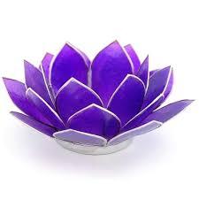 Lotus Flower Tea - candle holder lotus flower tea light holder indigo blue purple