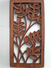 stupendous carved wood wall hangings thailand bali leaf wood