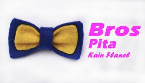 membuat kerajinan bros cara membuat bros pita dari kain flanel youtube