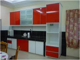 kitchen red storage units red kitchen cabinets black countertops